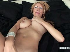 Chick Pass Amateur Network brings you an exciting free porn video where you can see how the naughty and busty blonde college girl Addison Riley fingers her cunt.