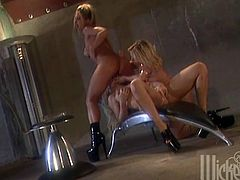 Three Gorgeous Lesbian Blondes Toying And Fingering Their Assholes