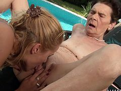 Watch this extremely hot and sexy blonde babe eat her horny and kinky grandmom's pussy in 21 Sextury sex clips.