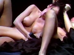 These smoking hot chicks are more than just good friends. They are lesbians! Appetizing gals make each other cum pretty quickly caressing each other's delectable snatches in 69 position. If you're a fan of retro smut then this mind-blowing lesbian sex scene is worth your attention. Press play and enjoy the action!