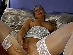 Insolent chicks are having fun by posing during their deep masturbation scenes