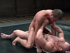 Samuel Colt and Tyler Saint are having a tussle on tatami. They fight with each other and then show their cock-sucking skills and have doggy style sex.