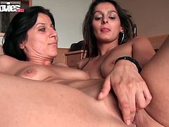 Watch these two sexy brunette lesbians Lolita and Rosi in this hot video.See after spending their day at beach, these two horny whore enjoys lesbian action in their bedroom.Nice pussy toying and fucking with strap-on.