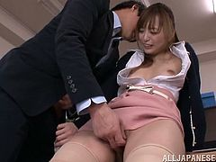 Have fun jerking off to this hardcore scene where the slutty Asian babe Yuu Namiki is fucked by one of her coworkers in the office.