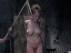 Apart from getting anal toyed and butt spanked, this girl is also tortured with some electrical devices in this lesbian BDSM.