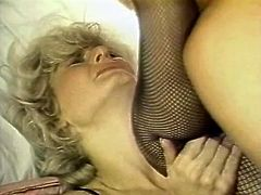 Blond slutty chick got her booty hole invaded in mish style