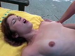 Horny schoolgirl Holly wants good grades and visits her teachers bearing gifts. Her gifts are letting him go around the world on her and plugs up every hole she's got. Then she takes a load of cum in her mouth, all out by the pool.