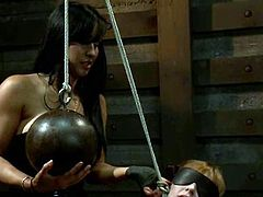 Only Isis Love could have generated such a dirty idea for some sadism! She gets Marie Maccray naked and humiliates her using her BDSM tools and toys!