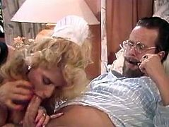 Watch this kinky and sexy blonde chick in her beroom getting her pussy and butthole banged really hard in The Classic Porn sex videos.