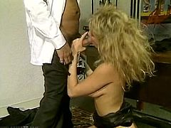 This sex-starved office slut needs a good pussy workout. Horny stud bangs her fanny ruthlessly in and out pushing her to the edge of powerful orgasm.