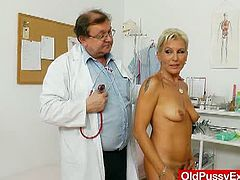 Granny Ellen lets mature doctor gape her pussy in the clinic. She walks in to get her physical exams but walks out enjoying something else in the kinkiest place she's ever been.