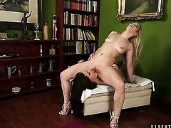 Blonde Nesty with massive breasts is in sexual ecstasy with Lyen Parker