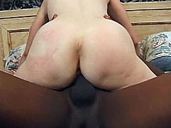 Nice interracial amateur scene with a charming milf and her new fuck buddy. A black guy with a thick black cock is what she is hungry for.