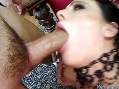 Have a look at this hardcore scene where the slutty brunette Liz Valerie has a great time with two big fat cocks in a hot threesome.