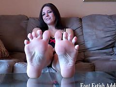 Foot Fetish Addiction brings you a hell of a free porn video where you can see how these gorgeous dommes tease you with their feet while assuming very interesting poses.