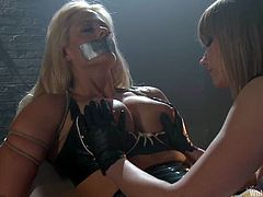 Holly Heart gets whipped and fucked by Maitresse Madeline