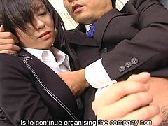 Secretary dolls Satomi Maeno licks ram wiener uncensored