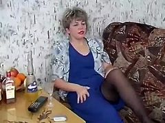 Russian Mature seduced by young Students