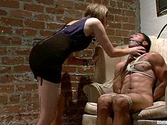Lewd stud Gianni Luca is having fun with Maitresse Madeline and her assistant. Gianni allows the cuties to tie him up and then undergoes some torments and humiliation.
