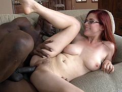 Beautiful Penny Pax gives a blowjob to Wesley Pipes. He puts on a ring on a dick and starts to fuck Penny as hard as he can.