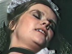Well graced dark haired slutty chick with massive boobs and OMG heavily haired pussy touches her thirsting clit with massive hot blooded dick. Watch this terrificly haired kitty in The Classic Porn sex video!