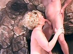 Busty blonde having her ass nailed