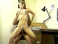 Fabulous all natural babe gives blowjob to her man in 69 pose. Beauty is all naked bends over the night stand and gets her cunt busted doggystyle.