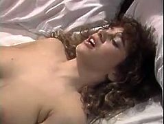 Dirty minded brunette chick with nice tits seduces one horny dude for a quickie. Bitch gets her massive tits licked before taking big prick up her hungry hairy snatch with her legs wide open.