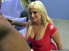 Make sure you have a look at this great interracial scene where the busty blonde Julie Cash is facialized after being fucked by a monster black cock.