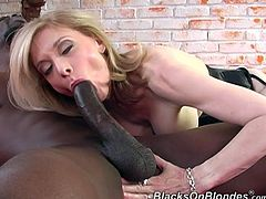This is how interracial scene must be shot! Nina Hartley is such a divine one and so sexperienced. She is going to share her experience on that huge cock!
