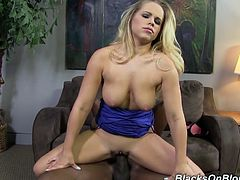 Juicy and sizzling blond chick Britney Young is going to stun out loud. She grabs that hard black cock and makes him fuck her hard.