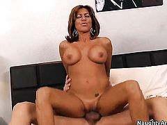 Tara Holiday with giant melons and bald beaver is ready to fuck all day long with Bruce Venture
