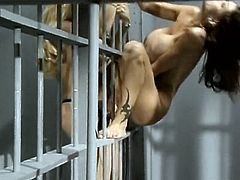 Even the cage can't separate these gorgeous lesbians. Appetizing chicks with big delicious boobs must have done something very bad to be locked in the jail cell. Check out this amazing lesbian sex scene now because there's plenty of strapon action going on.