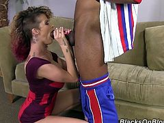 Have a look at t his rough hardcore interracial scene where the busty Joslyn James takes a ride on a guy's big black cock.