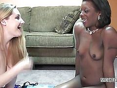 Golden-Haired lesbian Savanna Knight receives screwed by an ebon bitch
