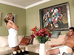 Bree Olson having oral fun with hard dicked guy