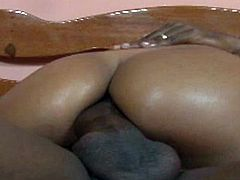 Sexy Latina Brazilian babe gets her tight black asshole fucked by hug black cock,Watch how she is enjoying his huge cock in almost every position.Don't miss it!