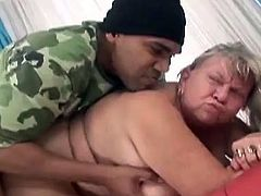 This is what can be called the supreme level of perversion! She is a damn grandma and she shouldn't be fucking with black dudes.