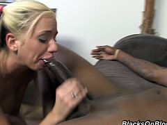 A skinny blonde bitch gets her fuckin' tight asshole stuffed with a big-ass fuckin' black cock, hit play and check it out right here!