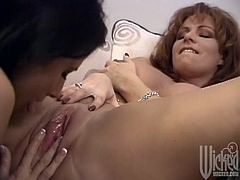 These two hot lesbians with astonishing bodies are horny and wet so they start licking and fingering their cunt before they uses toys to get orgasm.