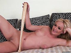Blonde Barbara Voice with big tits shows her slutty side to horny fuck buddy