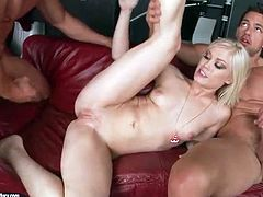 Ash Hollywood spit roasted by hung cocks