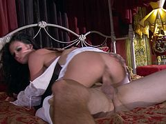 Hope you have fun with this hardcore video where the sexy brunette Andy San Dimas is fucked silly by a large cock as she wears her wedding dress.