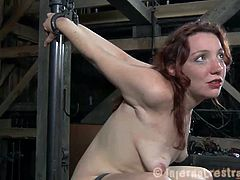 Maggie Mead is still begging for an authentic bondage experience. She wants to feel the pain and her master uses his instruments to make her cum like never before.