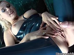 Get a load of this hardcore bondage scene where the sexy mistress Syren Sexton is fucked by two of her slaves after she tortures them.