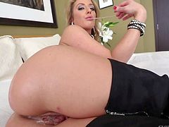 Sheena Shaw demonstrates her big heart-shaped ass and her pink meaty pussy while playing with her flexy asshole right in front of the camera in solo anal scene. Watch her make objects disappear deep inside her butt!