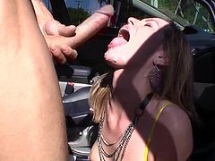 Watch Tara Lynn Foxx getting a serious mouthful of cum in this hardcore scene where she's nailed by this guy's big cock.