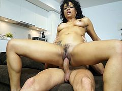Insolent chick likes having her cramped pussy nailed so fine
