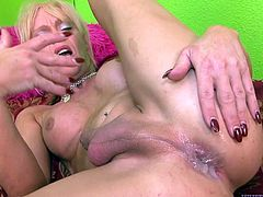 Transsexual Joanna Jet gives a blowjob to two guys. Later on these tranny gets her ass licked and fucked hard by two dudes at once.