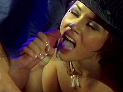 Watch Kristina Rose end up with a mouthful of cum in this hardcore scene where this slutty brunette's fucked silly by a big fat cock.